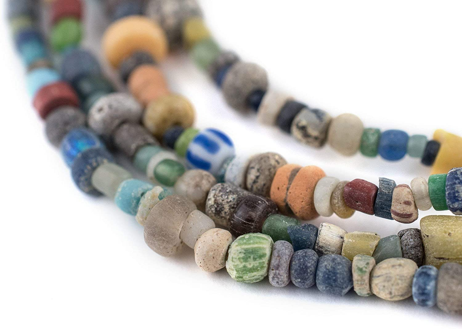 5mm Size Recycled glass beads handmade in Africa