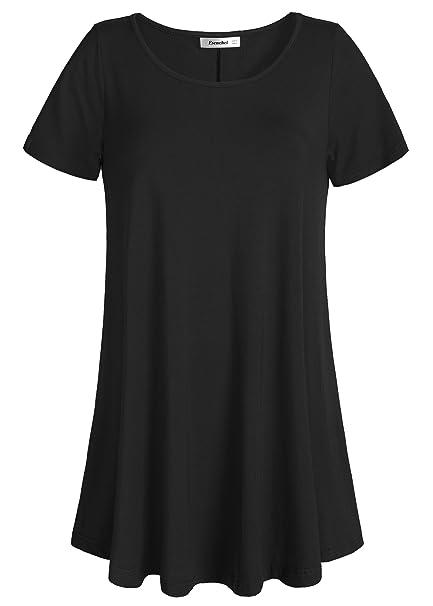 e51116dfad4ef Esenchel Women s Tunic Top Casual T Shirt for Leggings at Amazon ...