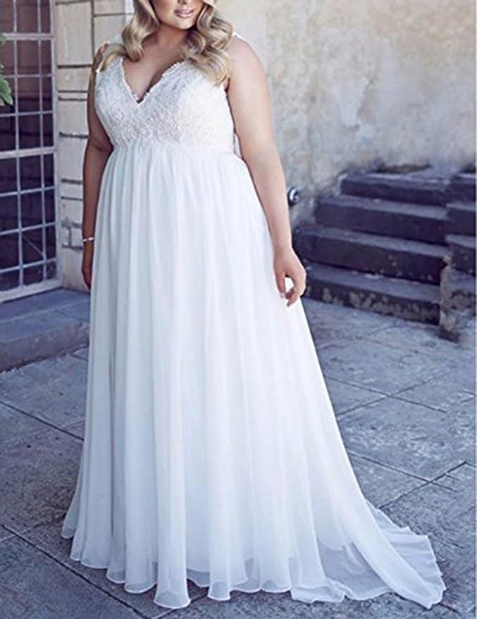 Amazon.com: Chic Maternity Wedding Dresses for Bride Plus Size White Lace Wedding Dress: Clothing