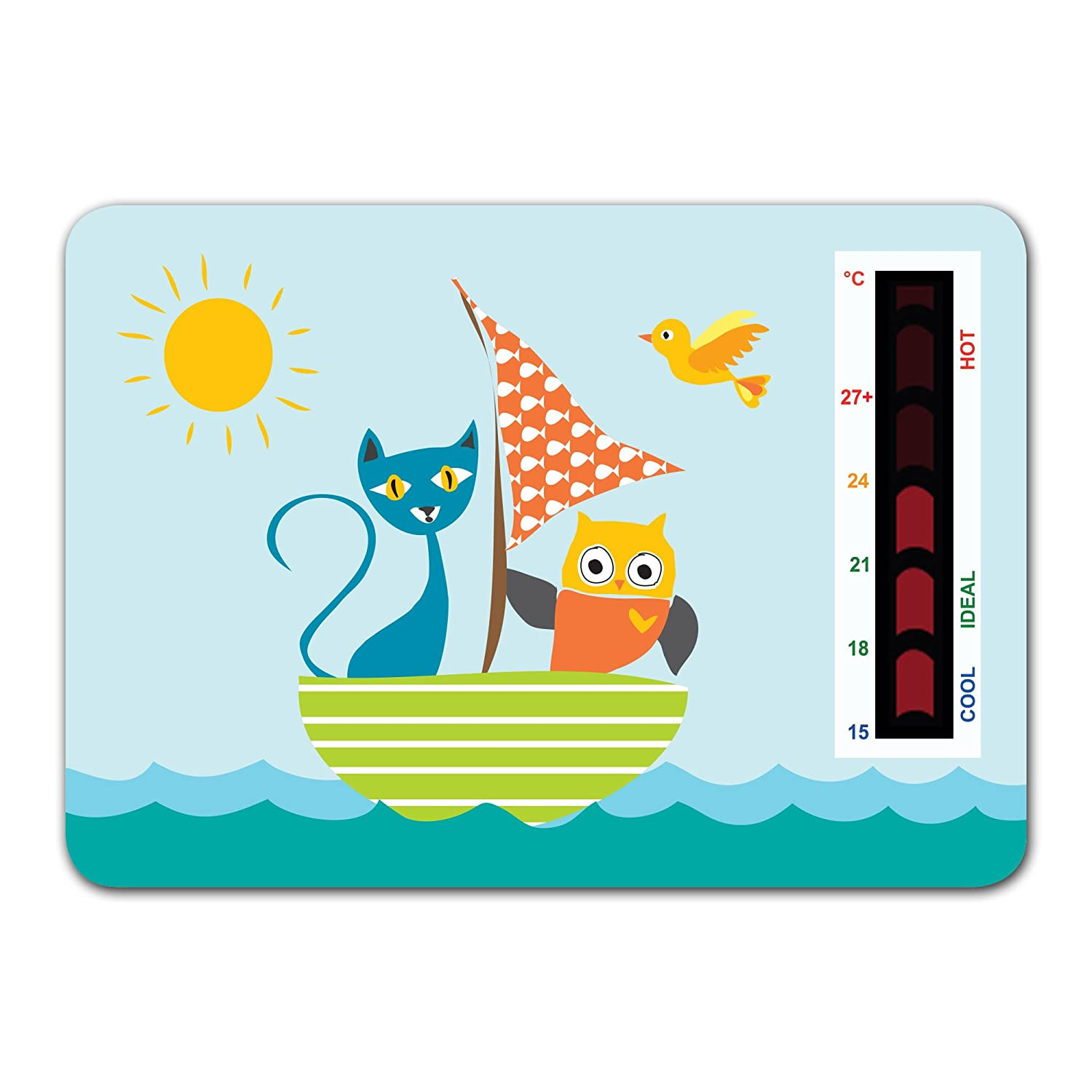 Owl and The Pussycat Nursery Room Safety Temperature Thermometer With New Moving Line Technology Good Life Innovations Baby Thermometer oandthep