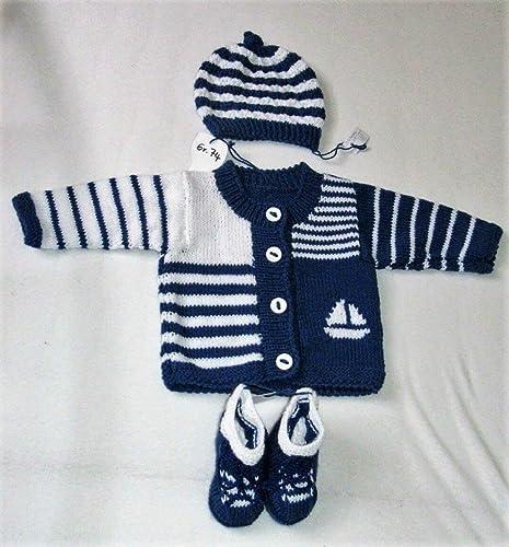 Bebé 3 - divisor/chaqueta/gorro/botines/tejido a mano/gr