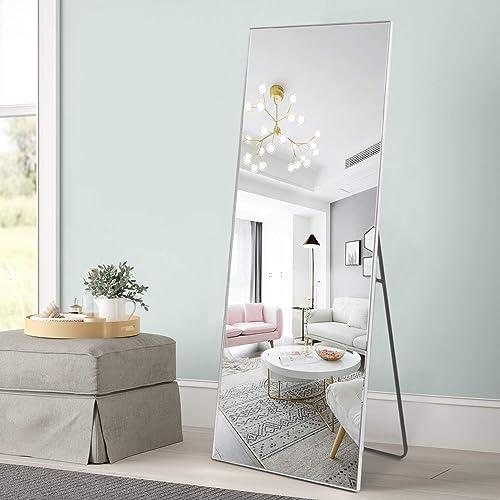 MIRUO Full Length Mirror Floor Mirror Hanging/Leaning Large Wall Mounted Mirror Horizontal/Vertical Bedroom Mirror Dressing Mirror