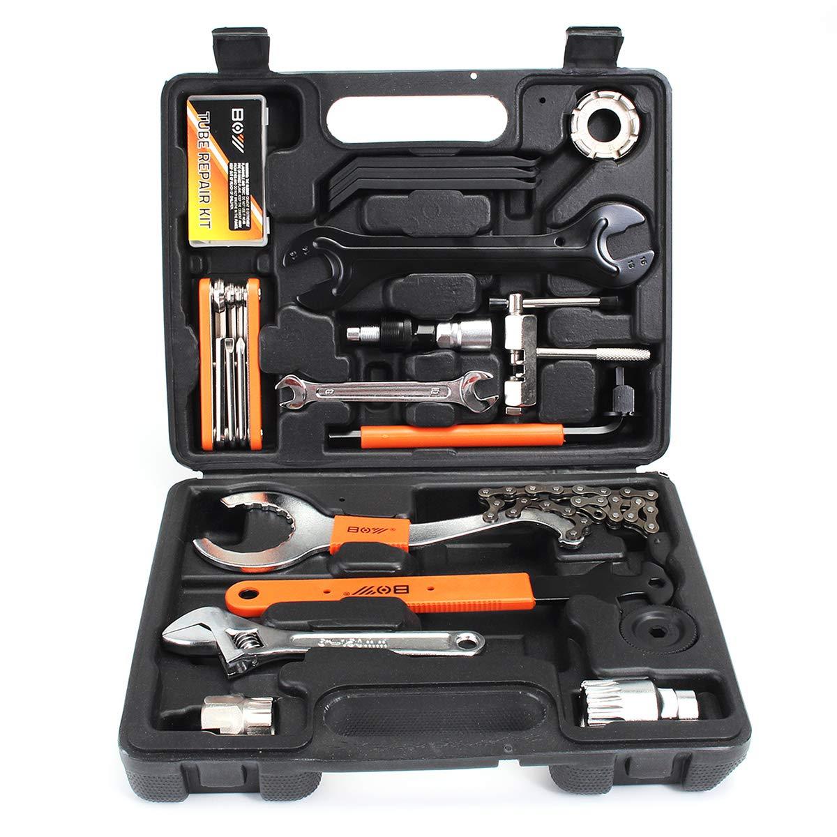 OlogyMart Bikehut Bike Bicycle Cycle Complete Maintenance Hand Repair Tools Kit Set With Box