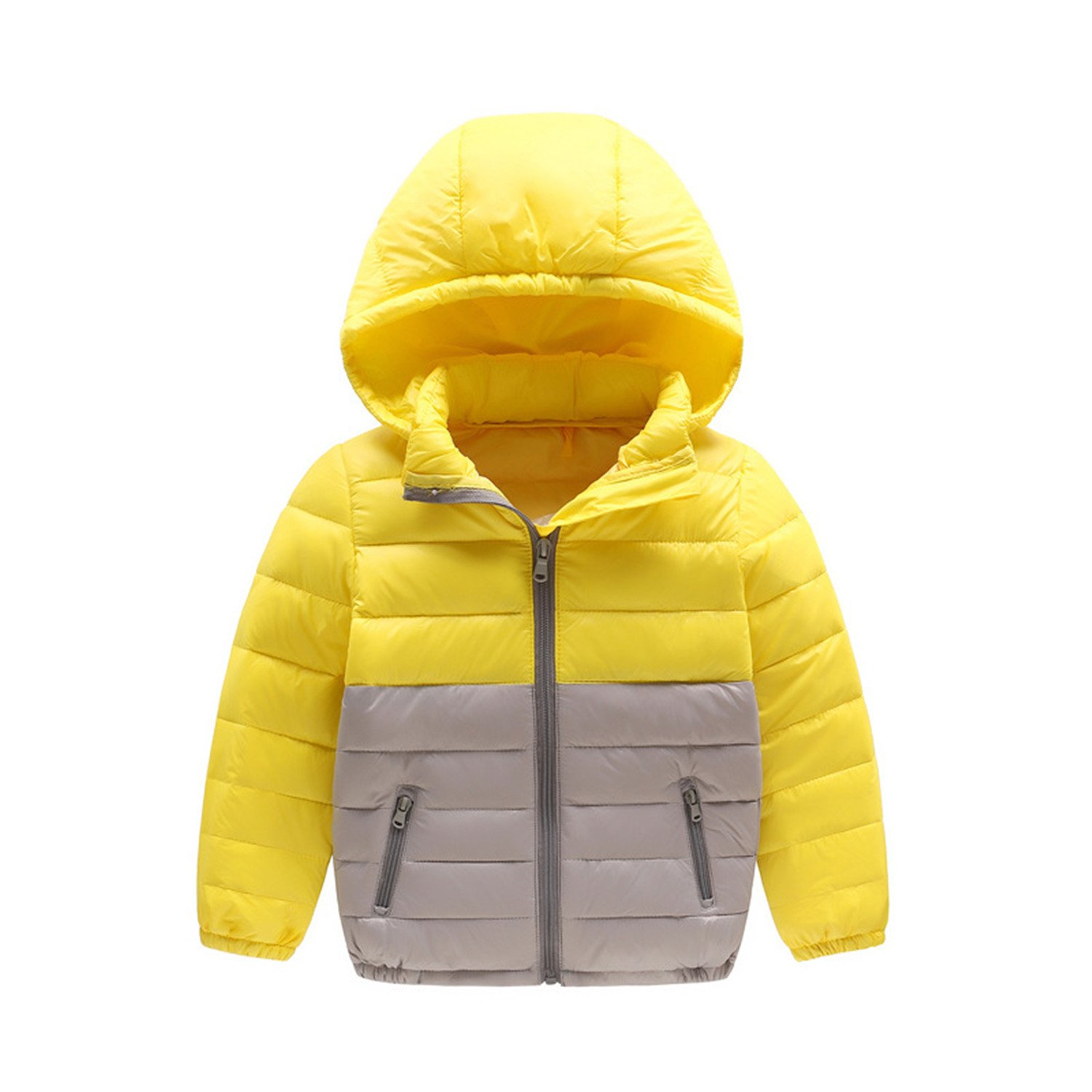 Baqijian Girls Parka Winter Coat Fur Children Down Jacket Lightweight Boy Girl Cap Splicing Colcoat