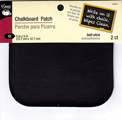 Amazon.com: DRITZ CHALKBOARD PATCH-PEEL & STICK - 2 PC 5