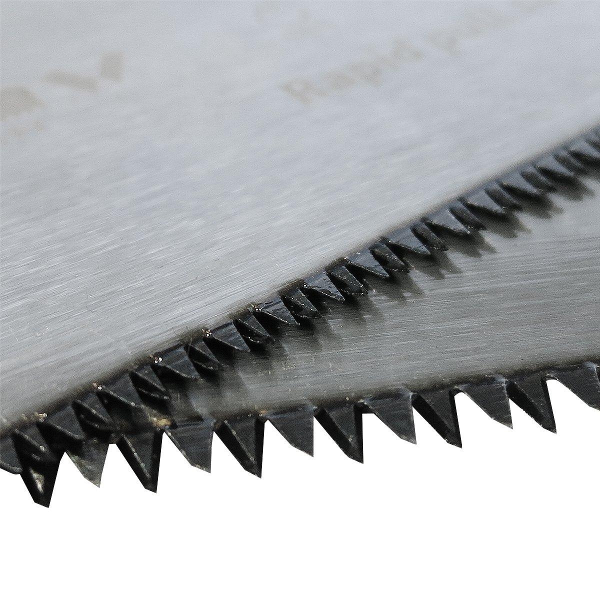 8 dientes y Corte fino Serrucho japones de Jard/ín con 2 Hojas: Corte Grueso GR/ÜNTEK Sierra de Podar a mano Piranha 13 dientes