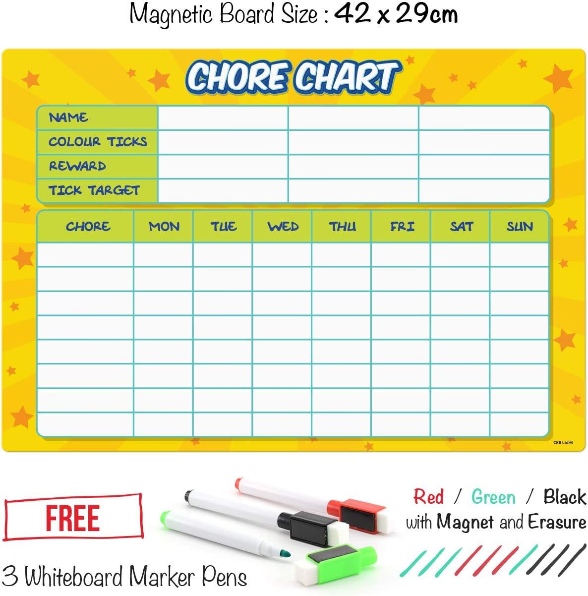 GOOD DINOSAUR REWARD CHART free stars /& pen 3 Sizes Magnetic option