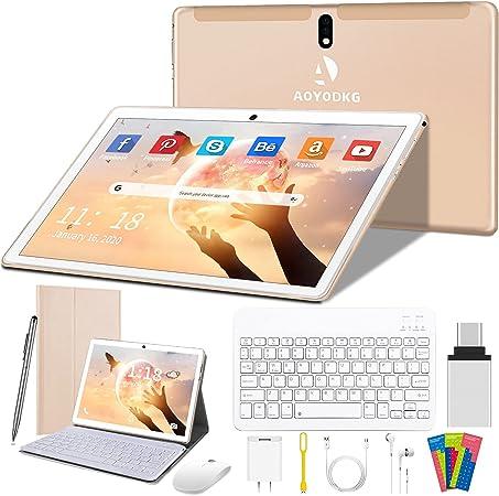 Tablet 10 Pulgadas 4G/WiFi Android 9.0 Pie Ultrar-Rápido Tablets 4GB RAM + 64GB ROM/256GB Escalable | Laptop Convertible de Oficina | Dual SIM - ...