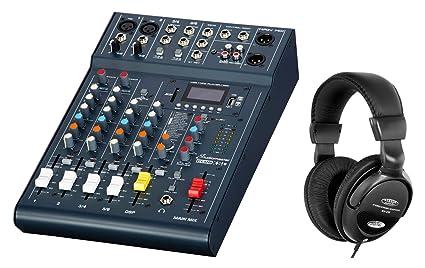 Studiomaster Club XS 6 - Mesa de mezclas compacta (4 canales y 6 ...