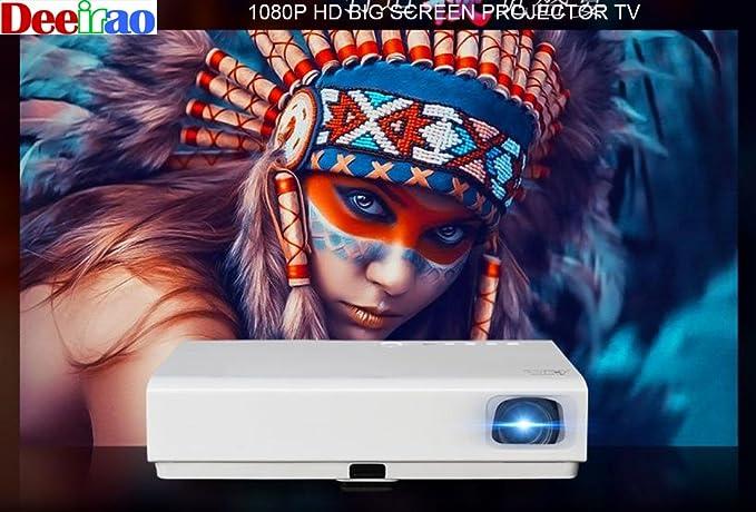 Deeirao Proyector láser 3D, proyector de Cine en casa DLP ...