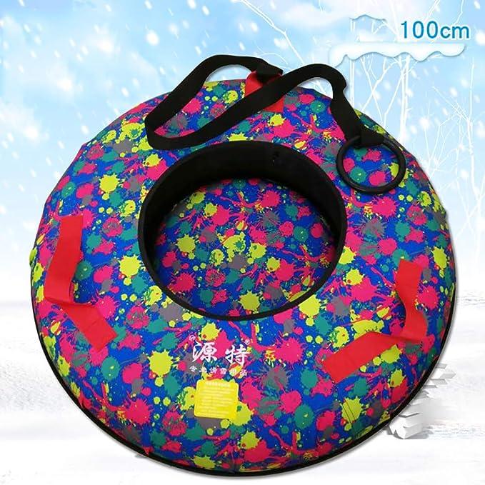 ZHAOK Snow Tubes Hinchable Nieve Trineo Tubo de Esquí Inflable con ...