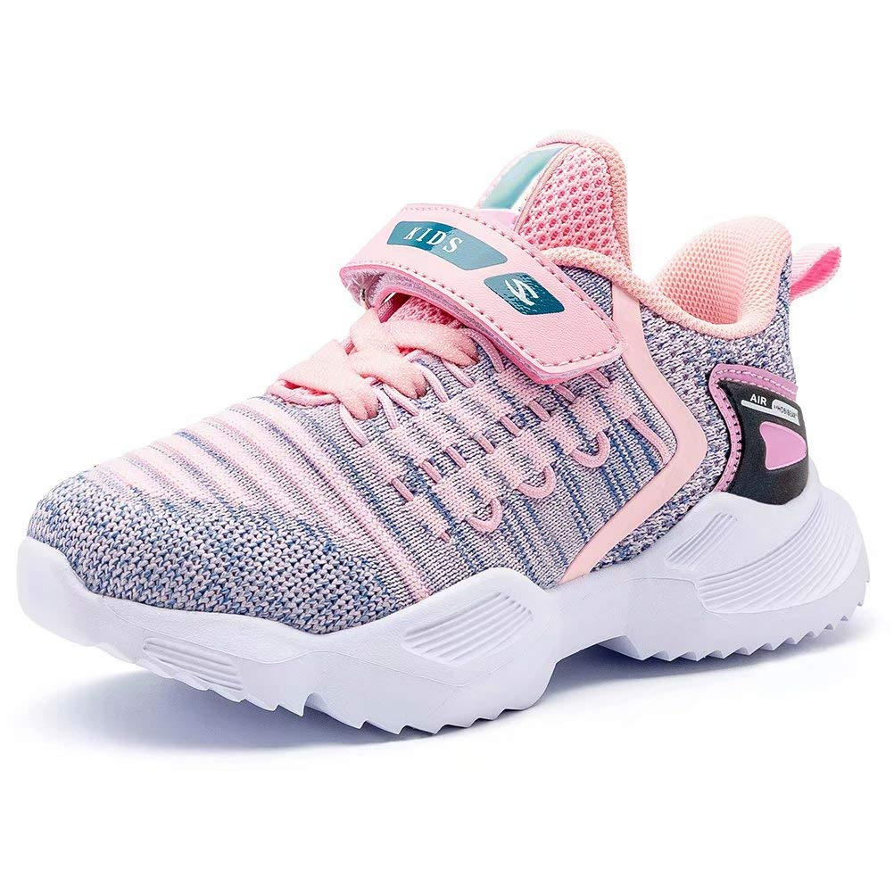 BODATU Boys and Girls Lightweight Sneakers Breathable Comfy Running Shoes