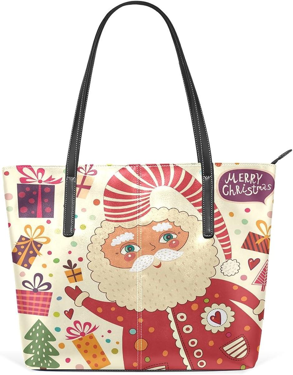 Christmas Gift Microfiber Leather Top Handle Satchel DIY Girl Handbag Shoulder Tote Bag for Girls Women with Large Capacity