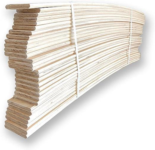10 listones curvados en madera de haya, repuesto para ...