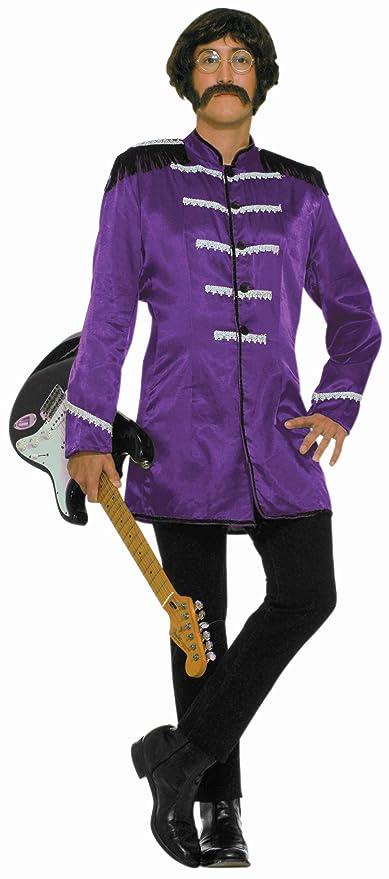 1960s Men's Costumes Forum 60s Revolution British Invasion Pop Star Costume Purple One Size $27.16 AT vintagedancer.com
