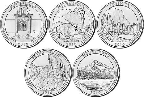 2015 P /& D US Mint America the Beautiful Uncirculated 10 Coin Quarter Set NE2