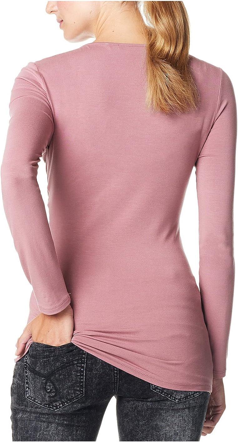 ESPRIT Maternity Damen Umstands Langarmshirt mit Stillfunktion Einfarbig