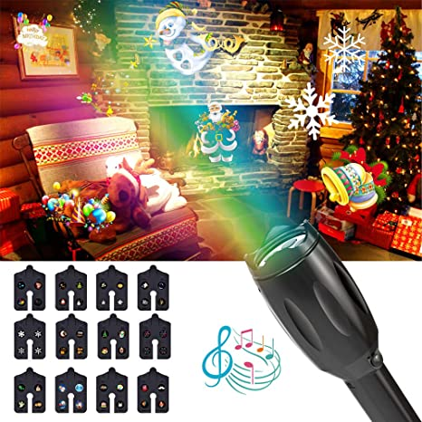 Proiettore Luci Di Natale Amazon.Proiettore Lampada Led Natalizia Iitrust 12 Diapositive Patterns
