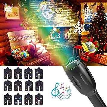 Luces de Mano del proyector de Navidad, Exteriores o Interiores ...