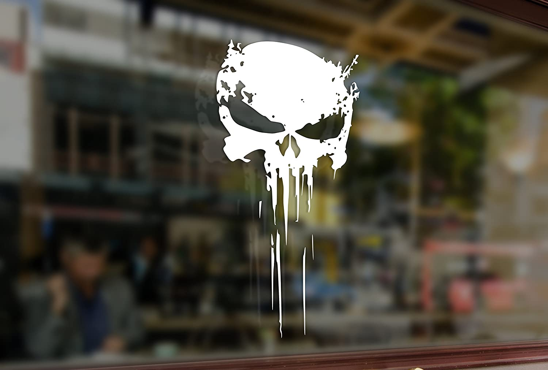 25cm The Punisher Skull Vinyl Stickers Funny Decals Bumper Car Auto Computer Laptop Wall Window Glass Skateboard Snowboard Bananasticker