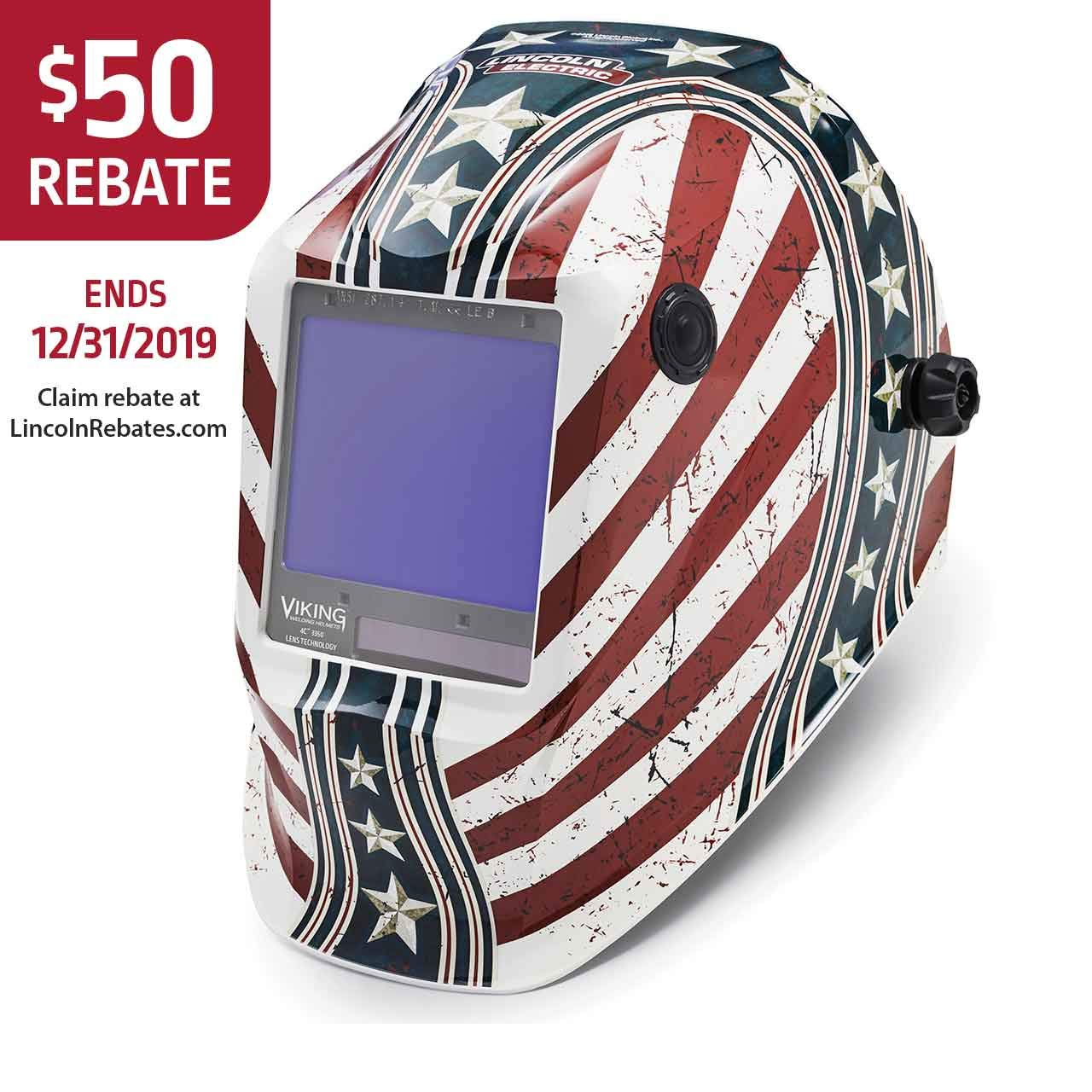 Lincoln Electric K3683-4 VIKING 3350 Welding Helmet, Daredevil by Lincoln Electric