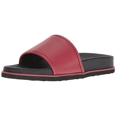 Calvin Klein Men's MACKEE Tumbled Brushed SMTH Slide Sandal, | Shoes