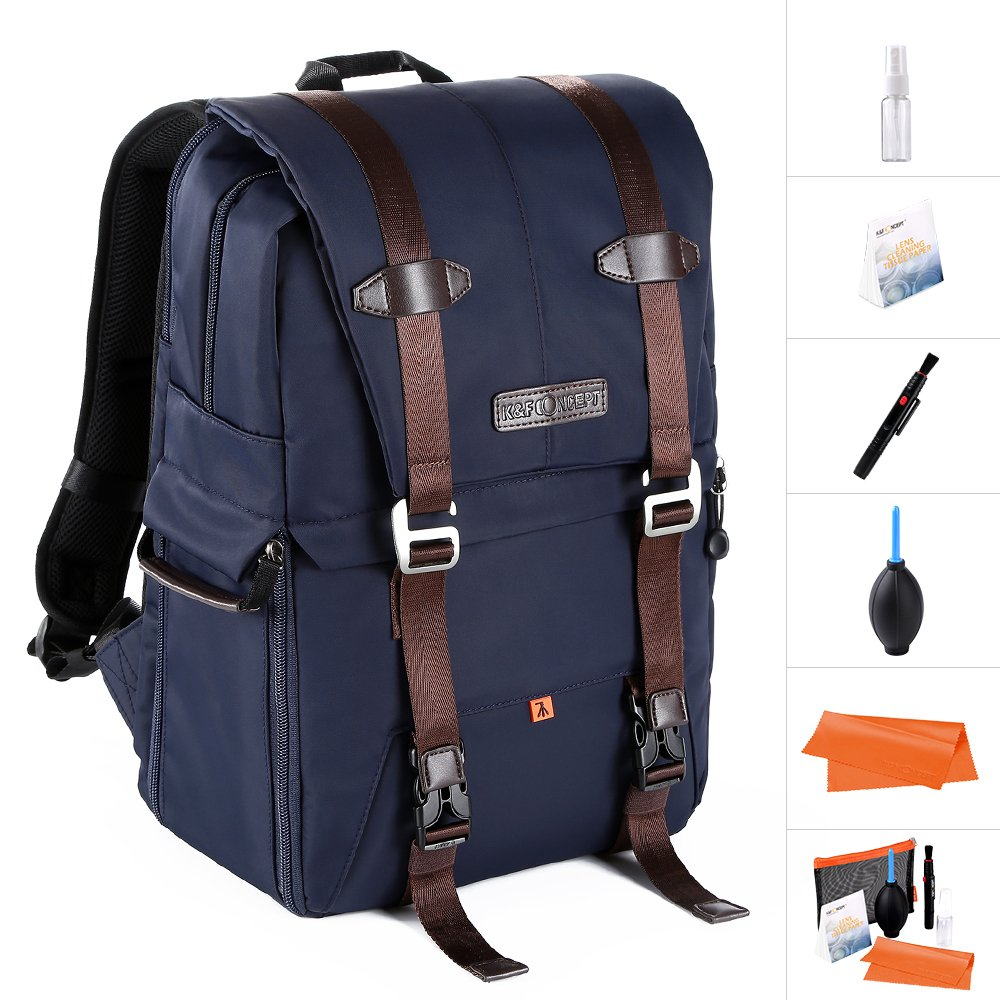K&F Concept DSLR Camera Backpack Multifunctional Waterproof Nylon Bag with 30L Large Capacity for 14'' Laptop,Camera, Lenses,Tripod and Photography Accessories by K&F Concept