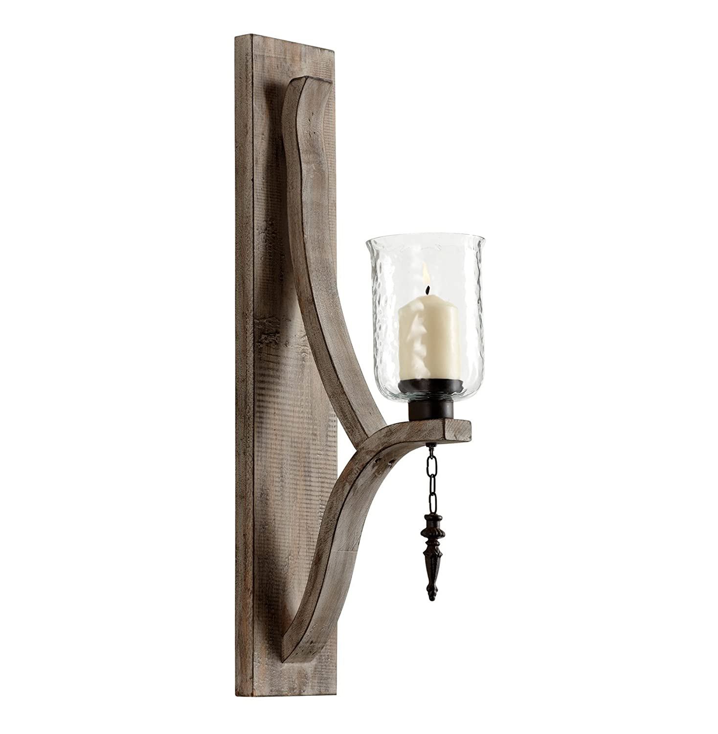 Amazon giorno country rustic chunky wood candle sconce home amazon giorno country rustic chunky wood candle sconce home kitchen amipublicfo Images