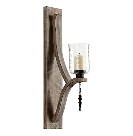 Giorno Country Rustic Chunky Wood Candle Sconce  sc 1 st  Amazon.com & Amazon.com: Giorno Country Rustic Chunky Wood Candle Sconce: Home ...