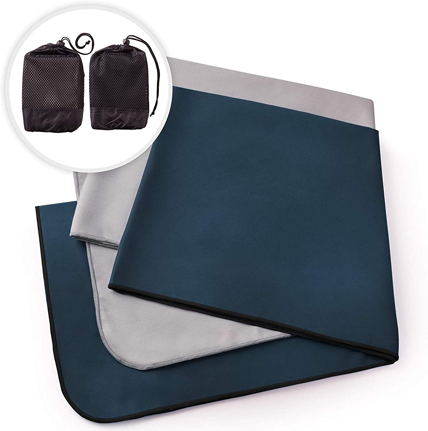 The Friendly Swede Microfiber Towels for Sports, Gym, Yoga, Travel, Swim, Hiking and Camping, Ultralight and Quick Drying