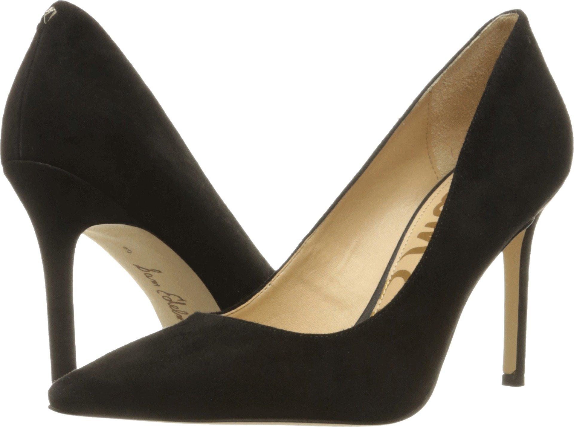 Sam Edelman Women's Hazel Black Kid Suede Leather Shoe