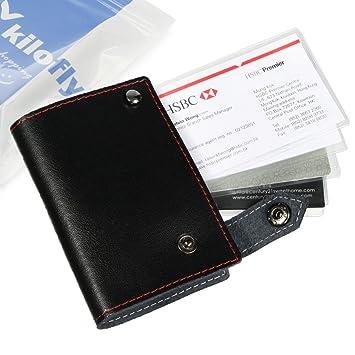 Crédito kilofly tarjetero tarjeta caso - Cuero, color negro ...