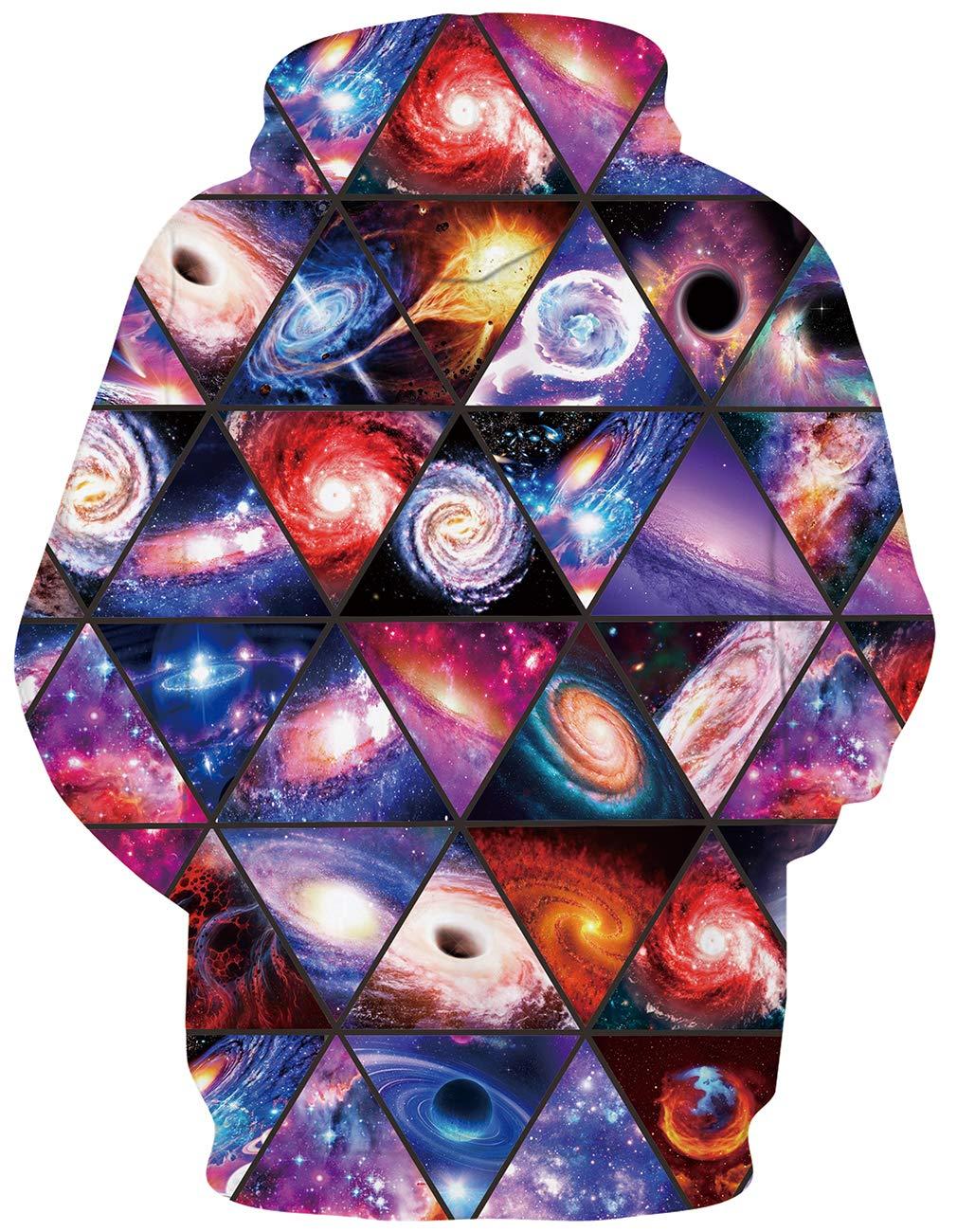 RAISEVERN Männer Frauen Fantasy Hipster Nebula Galaxie Drucken 3D Hoodie Punk Girls Boys Sweatshirts Pullover XL
