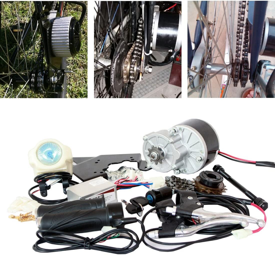 24 V 36V250 W Eléctrico bicicleta Juego de Instalación de movimiento E-Bike Conversion Kit Fácil DIY Ebike Motor Incluso gemacht Ebike Cool Change Kit Modified Bike … (36V 250W)