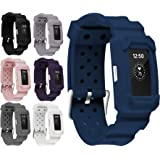 Greatfine Fitness Smart Watch Bracelet Strap Band for Fitbit Charge 2 Protector Silicone/Stainless Steel Replacement Bands