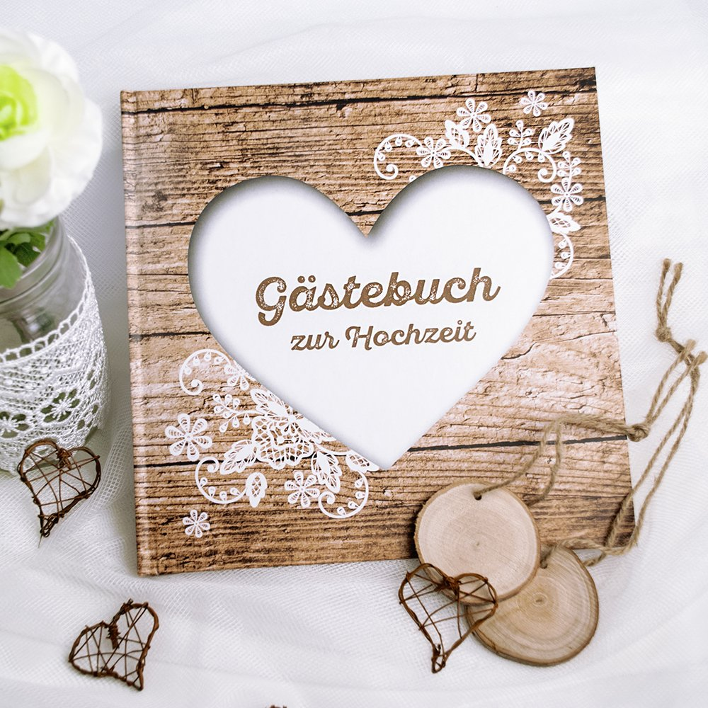 Gästebuch Black /& White Hochzeit, Hochzeitsgästebuch schwarz weiß ...