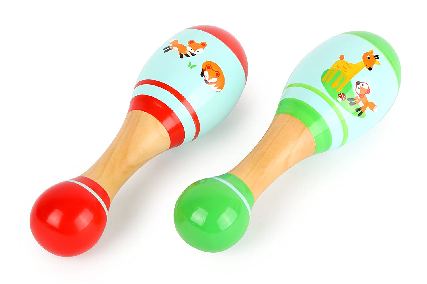 Small Foot Maracas in Legno Colorato per Bambini, 10723 Small Foot by Legler