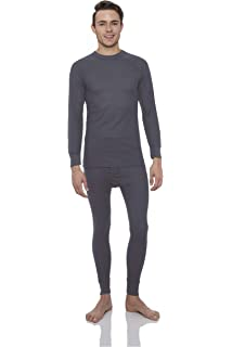 c319cd8b38d492 Rocky Men's Waffle Thermal Underwear Set 2 pc Long John Underwear Ultra Soft  Top and Bottom