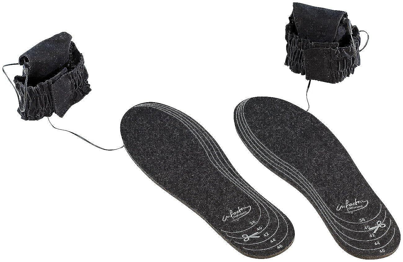 infactory Heizeinlagen Schuhe: Beheizbare Schuheinlagen BS-20.B, Universalgröße (Heizung für Schuhe) NC8655