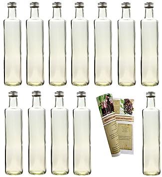 guoveo Dora - Botellas de cristal vacías (20 unidades, 500 ml, con tapón