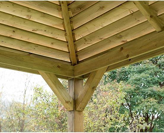 Pabellón veneciano de madera (sin cubierta) para comedor al aire ...