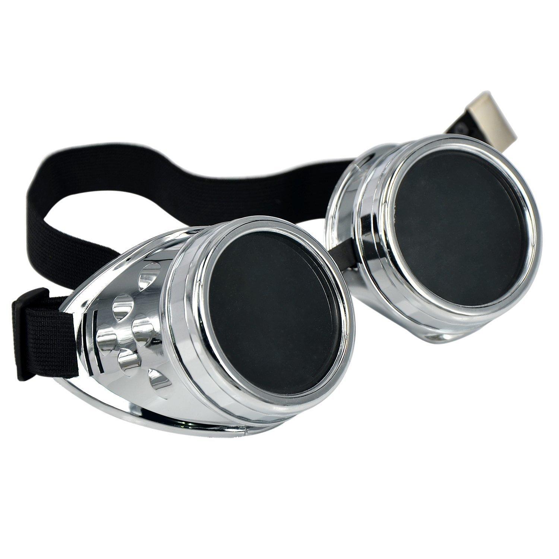 SODIAL (R) Cyber ??Goggles Steampunk Schweissen Goth Cosplay Vintage ...