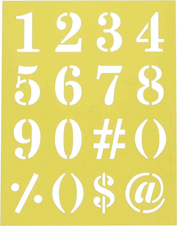 Darice 30018432 8.5X11 Stencil Numbers
