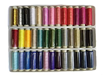 ZXUY 39 colors polyester sewing thread