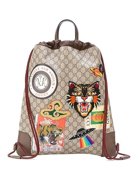 352a60224b Gucci Zaino Uomo 473872K9RVT8863 Pvc Beige: Amazon.it: Abbigliamento