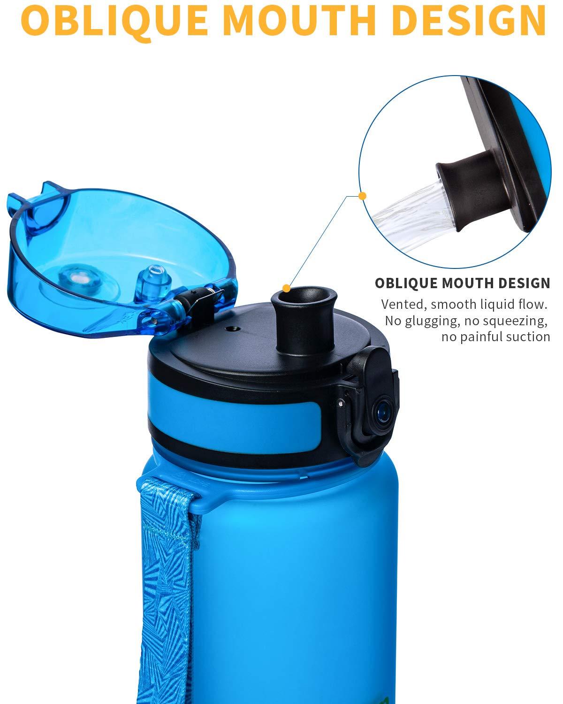 KingCamp Trinkflasche 400//500//650//1000ml Tritan BPA-Frei Wasserflasche Auslaufsicher mit Schlaufe