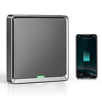 Wifi Interruptor Alexa 1 Gang, Etersky Interruptor Inteligente Compatible con Alexa y Google Home...