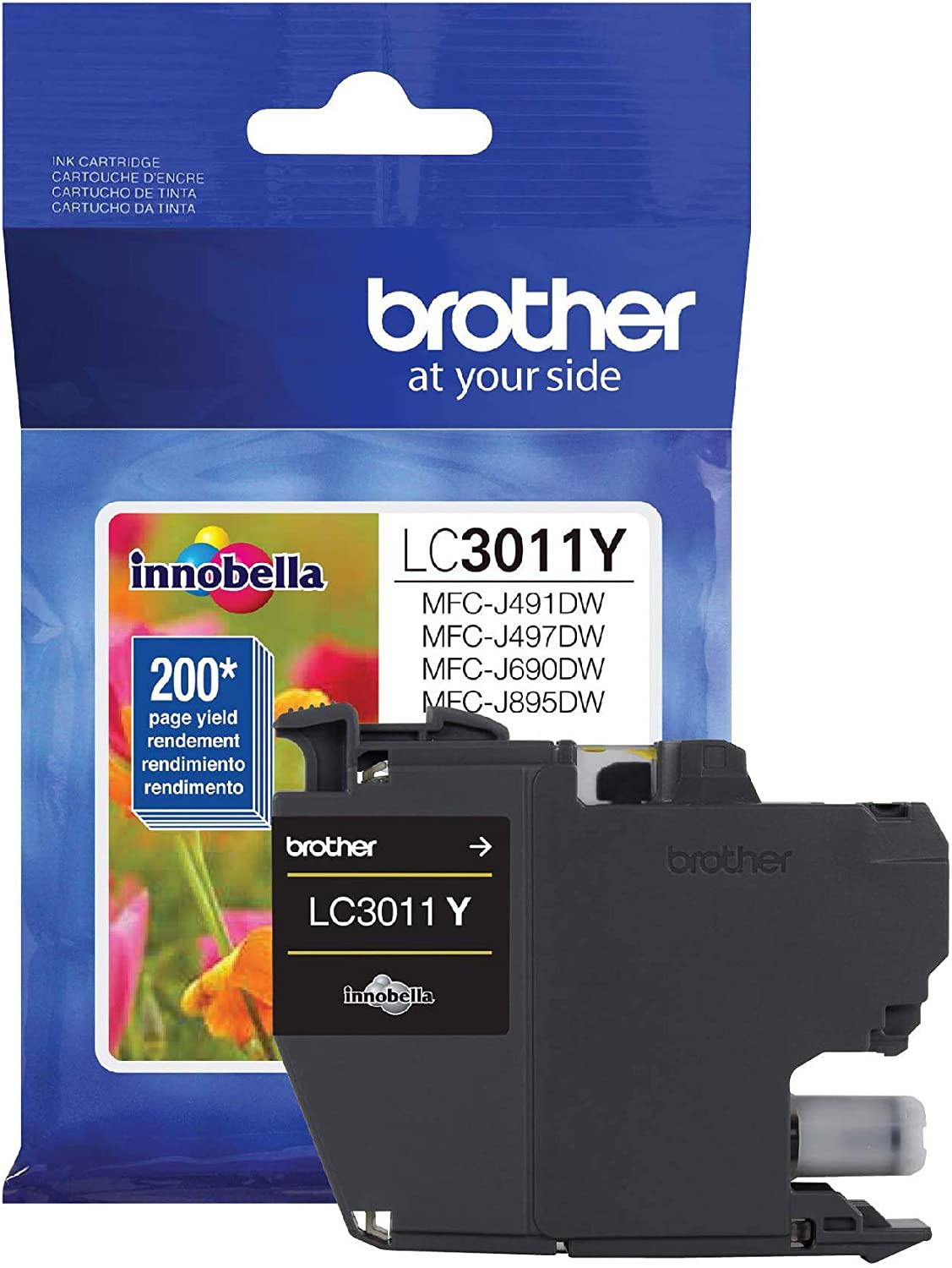 LC3011 Brother Genuine LC30113PKS 3-Pack Standard Yield Color Ink Cartridges Page Yield Up to 200 Pages//Cartridge Includes Cyan Magenta and Yellow