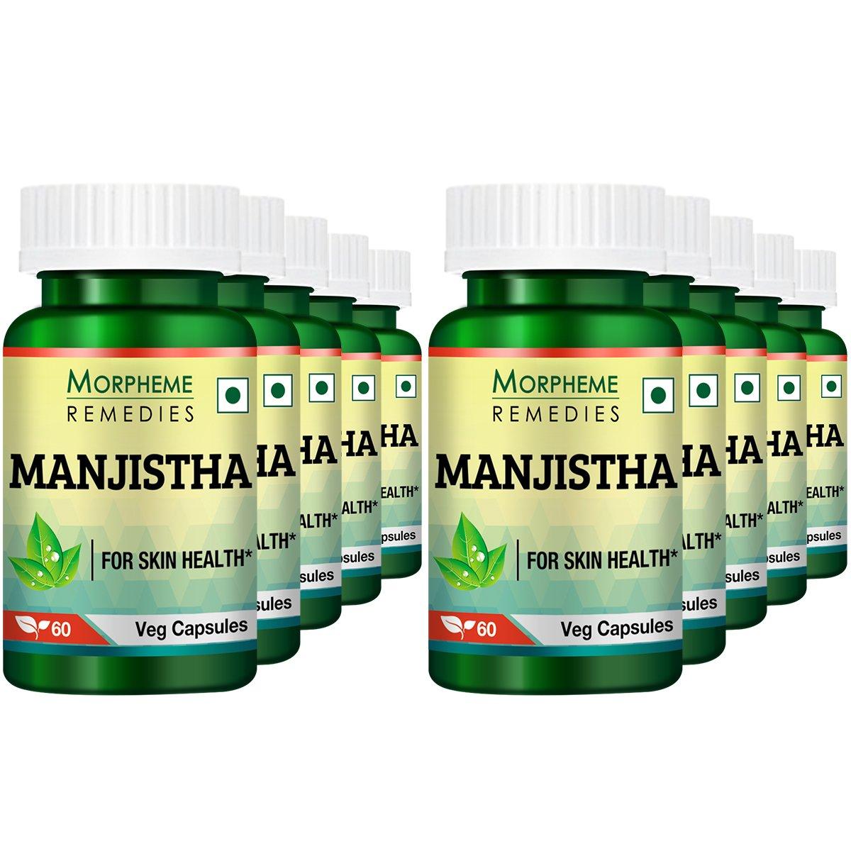 Morpheme Manjistha (Rubia Cordifolia) 500mg Extract 60 Veg Caps (Pack of 10)