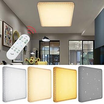 Charmant VINGO® 60W LED Deckenlampe Dimmbar Starlight Effekt Deckenbeleuchtung  Wohnzimmer Wandlampe Schlafzimmer Deckenleuchte Sternen Kristall Deko  Sternenhimmel ...